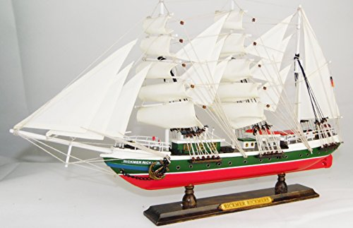 Schiffsmodell-R-Rickmers-50x9x31cm-Standmodell-Segelschiff-Modellsegelschiff-Traditionssegler