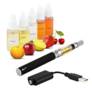 Discoball Rechargeable Electronic Shisha Cigarette eGo + 5 Mixed Fruit Flavoured E-liquids Quality Guaranteed UK New