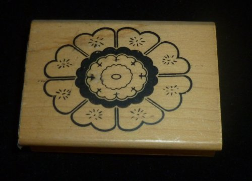 Decorative Flower Rubber Stamp