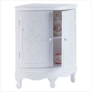 Distressed white wood perfect bathroom corner cabinet free standing cabinets for Distressed wood bathroom cabinet