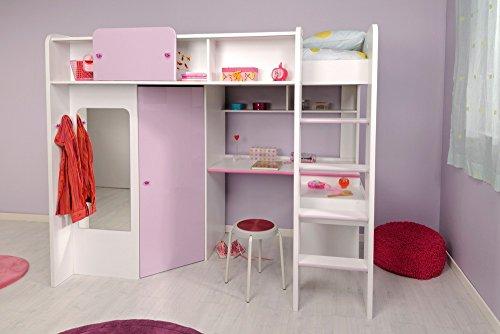 Parisot-2248lsur-Set-Mbel-Kinderzimmer-Mademoiselle-wei-megev-Holz