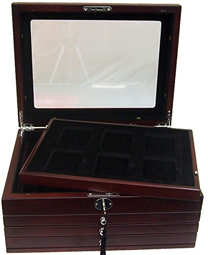 Deluxe-Glass-Top-Display-Box-for-24-Slabs-with-Latch-and-Key