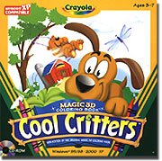 Crayola Magic 3d Coloring Book -Cool Critters