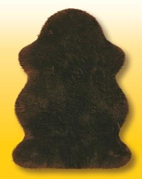 Pieles de cordero australiano en marrón talla 110 x 75 cm aprox