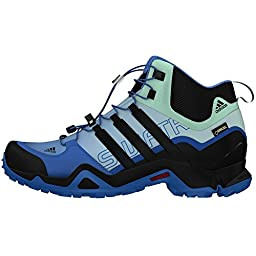 Adidas Terrex Swift R Mid GTX Shoe - Women\'s Ray Blue / Black / Ice Green 8
