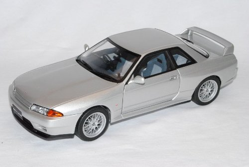 Nissan Skyline GT-R R32 V-spec II Silber Coupe 1989-1993 77346 1/18 AutoArt Modell Auto