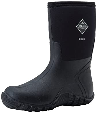 The Original MuckBoots Adult Hoser Mid Boot,Black,4 M US Mens/5 M US Womens