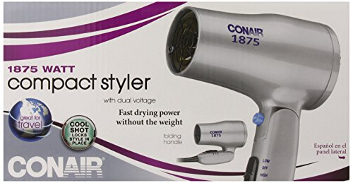 Conair 1875 Watt Dual Voltage Folding Handle Hair Dryer