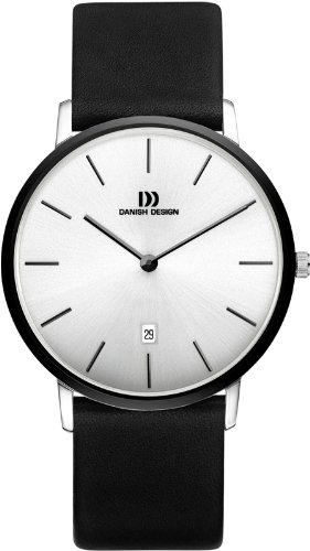 Danish Design IQ14Q1030 Stainless Steel with Ceramic Case Leather Band Mens W...