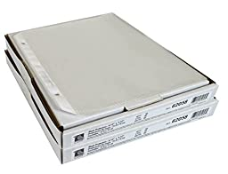C-Line 62058 Heavyweight Polypropylene Mini (Half-Sheet) Sheet Protectors, 8.5 x 5.5 Inches, Clear, 50 Per Box - 2 Boxes (100)