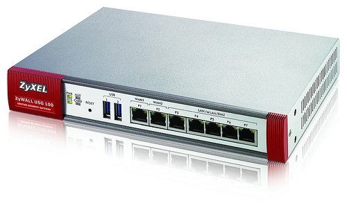 ZyXEL ZyWALL USG100 Unified Security Gateway Firewall w/50 VPN Tunnels, SSL VPN, 7 Gigabit Ports, and High Availability