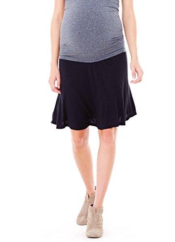 Ingrid & Isabel Women'S Maternity Flowy Skirt, Black, Small front-613515