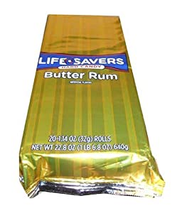 Lifesavers Butter Rum Candy 14 Count Rolls