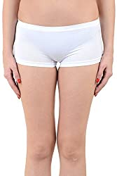 Mynte Women's Sport Shorts White MECLWIWP-SHR-101
