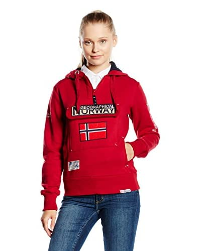 Geographical Norway Felpa Cappuccio Gym Class [Rosso]
