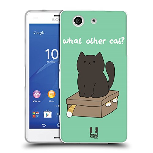 Head Case Designs What Other Cat Ceiling Cat Vs Basement Cat Back Case Cover in Silicone per Sony Xperia Z3 Compact D5803 D5833
