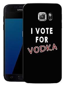 "I Vote For VodkaPrinted Designer Mobile Back Cover For ""Samsung Galaxy S7 Edge"" (3D, Matte, Premium Quality Snap On Case)"
