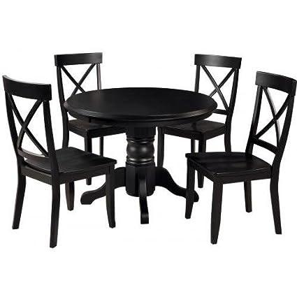 Home Styles 5 Piece Round Pedestal Dining Set -