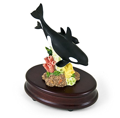Incredible Mother Killer Whale and Baby Musical Figurine with 18 Note Tune-I'm A Little Teapot (Whale Teapot compare prices)