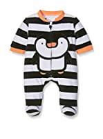 Pitter Patter Baby Gifts Pelele (Negro / Blanco)