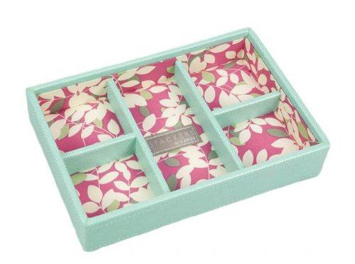 Green Mini Stackers 5 Compartment tray