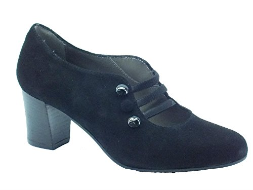 Tronchetti Melluso per donna in camoscio nera con tacco (Taglia 38)