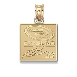 Tony Stewart 2011 NASCAR Sprint Cup Champion Pendant - 10KT Gold Jewelry by Logo Art