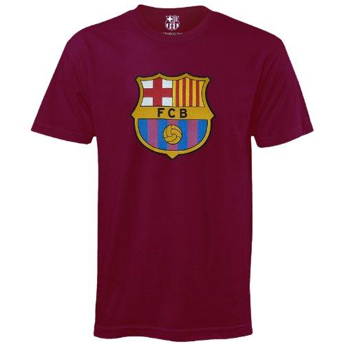 Fc Barcelona Official Football Soccer Gift Mens Crest T-Shirt Claret Xxl