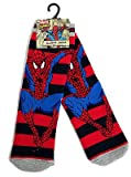 Young Boys Jumping Spider-Man Striped Slipper Socks UK Size 6-8.5 / 2-3 Years