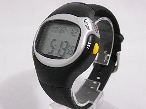 心拍計 ハートレートモニター 腕時計 カロリー 計測 (ブラック)