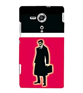 printtech Suit man Back Case Cover for One Plus X