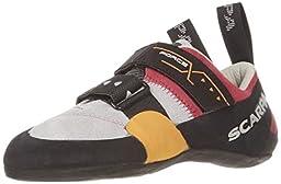 Scarpa Women\'s Force X Climbing Shoes Lip Gloss 34.5 & Etip Lite Gripper Glove Bundle