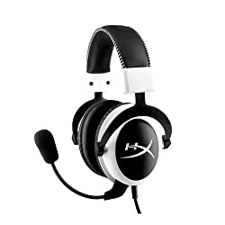 Kingston Technology HyperX Cloud Gaming Headset, White (KHX-H3CLW)