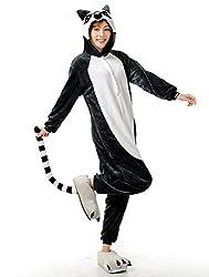 VU ROUL Unisex-adult Onesies Christmas Monkey Animal Kigurumi Costume