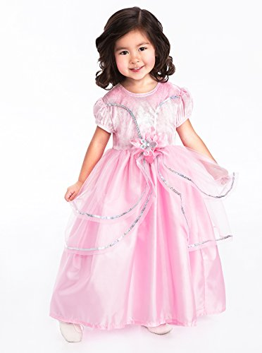 Little Adventures Royal Pink Princess Dress-up Costume (Med 3-5 yrs) (Pink Velvet Princess Costume)