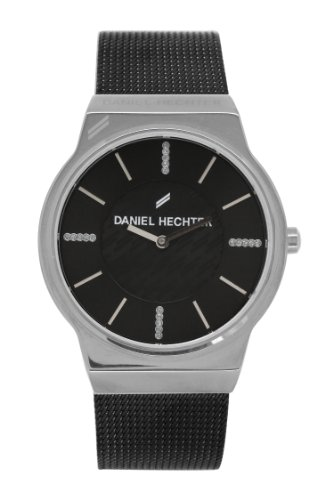 Daniel Hechter-DHD - 001/AM Women's Watch Analogue Quartz Black Dial Steel Strap Black Plated