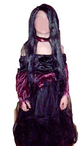 Gothic Witch Burgundy Black Costume Dress-up Hat