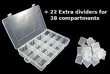 Lunar Box Caja de almacenamiento con 16-38 compartimentos versátiles y extraíbles