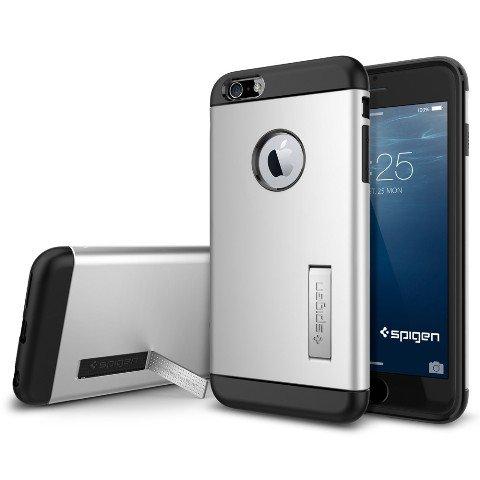 iPhone 6 Plus ケース, Spigen® [ スリム+保護力+個性 ] スリム アーマー Apple iPhone (5.5) アイフォン 6 プラス カバー (国内正規品) (サテン・シルバー SGP10904)