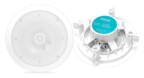 Pyle Home Pwrc51 5.25-Inch Weather Proof 2-Way In-Ceiling / In-Wall Stereo Speakers (Pair)
