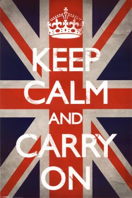 Keep Calm and Carry On Poster Poster Print, 24x36
