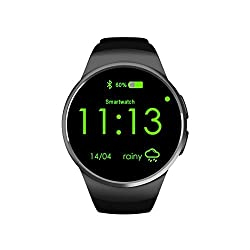 KING-WEAR KW18 Smart Watch Phone CPU MTK2502C Metal Plating OGS Capacitive Screen with Anodic Oxidation Treatment Wrist Watch Silver Black