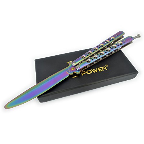 "5"" Inch Multicolored Practice Knife Trainer(no offensive blade)"