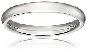 Women's Platinum Comfort-Fit Plain Wedding Band , Size 5