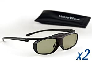 ValueView 3D Glasses for PANASONIC RF 3D TVs. Rechargeable. TWO PAIRS