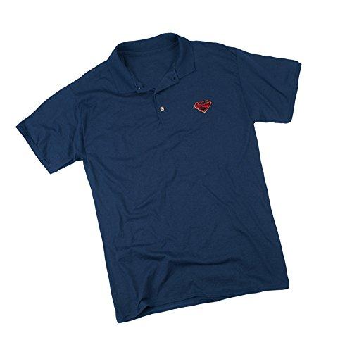 Superman Movie Emblem -- Adult Embroidered Appliqué Polo Sportshirt, XXX-Large (Superman T Shirt Emblem compare prices)