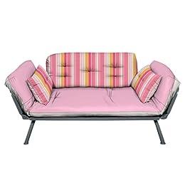 set includes  futon frame 2 pillows futon cover futon mattress  care and cleaning  spot clean    futon  mali flex futon  bos     print  u0026 stripe mali flex futon  bo from target in blue pink      rh   christonium
