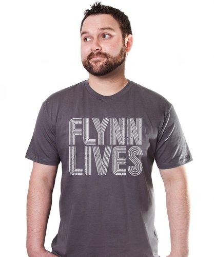 FLYNN LIVES TSHIRT Comic Con Arcade TRON LEGACY TEE MOVIE Retro GAME Encom New