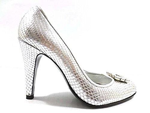 scarpe donna RICHMOND 36,5 EU decoltè argento pelle WH292