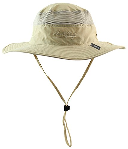 Camo Coll Outdoor UPF 50+ Boonie Hat Summer Sun Caps (One Size, Khaki) (Uv Protection Hat compare prices)